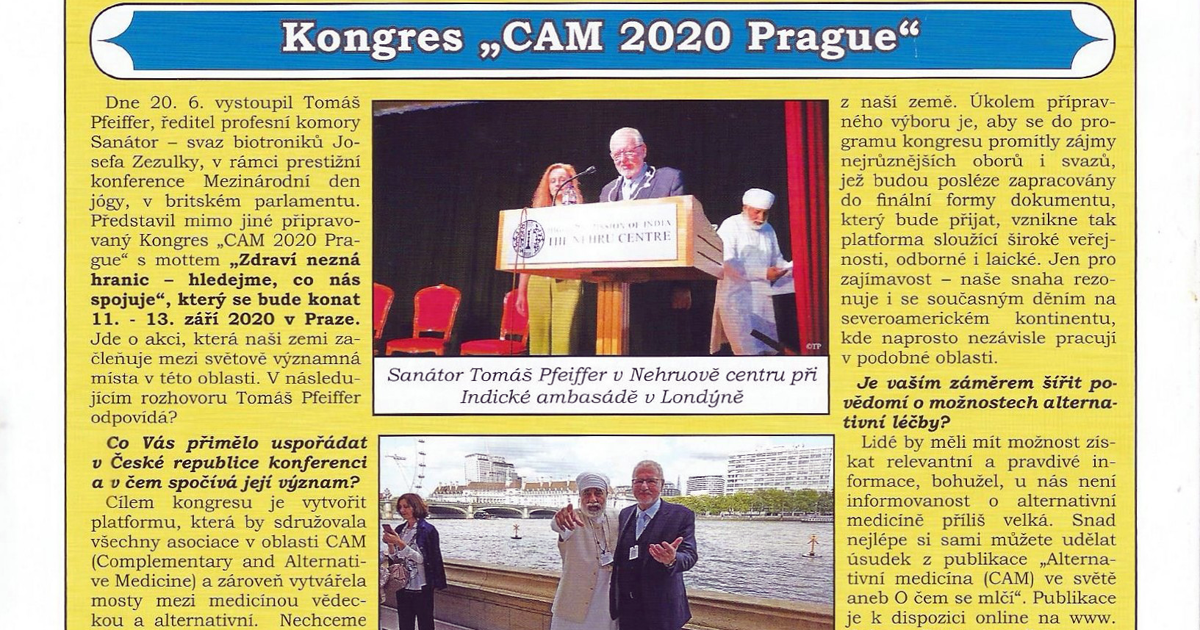 "Kongres ""CAM 2020 Prague"""