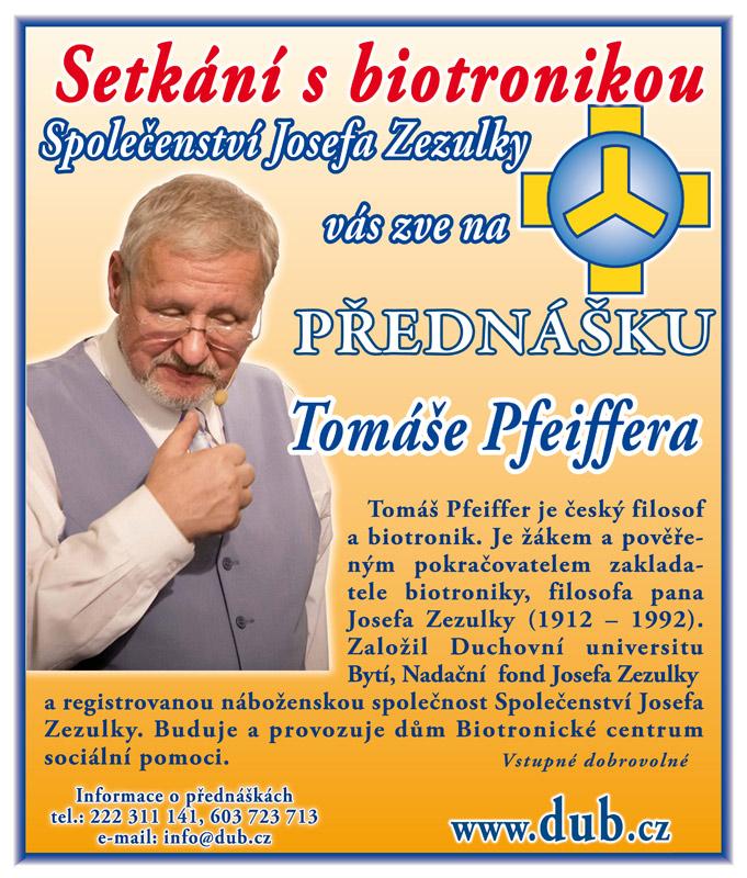 Tomáš Pfeiffer - Setkání s biotronikou -TJ Sokol Turnov, Skálova 540, Turnov