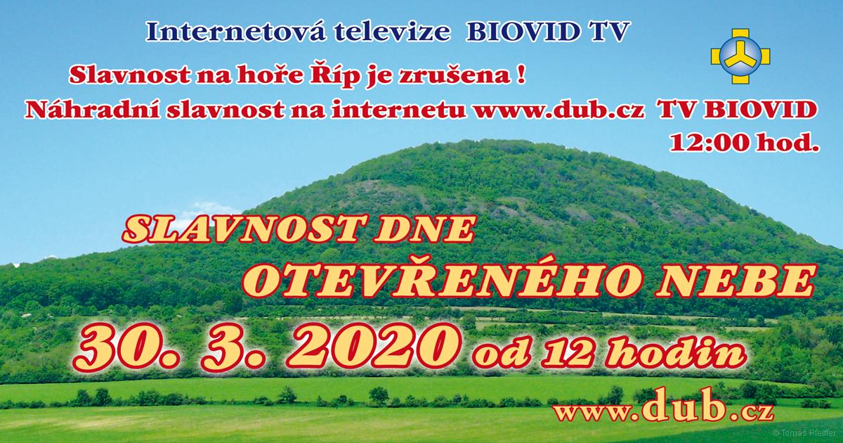 Slavnost Dne otevřeného nebe - 30. 3. 2020, 12.00