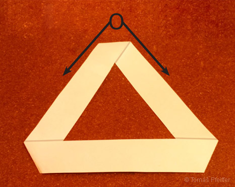 Figure 17 – The symbol of an equilateral triangle – triangulum (the Eye of Providence) made out of the Möbius strip, symbolizing the duality creation