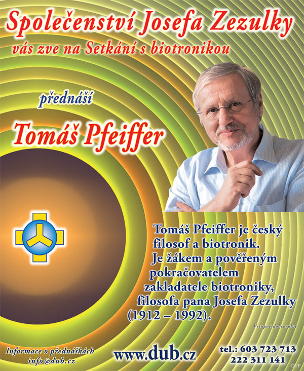 Tomáš Pfeiffer - Setkání s biotronikou / Praha -Sál JZ, Soukenická 1190/21, Praha 1 Nové Město